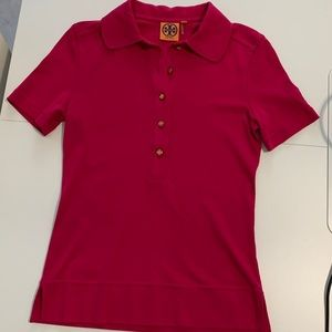 New without tags, Tory Burch polo in magenta XS